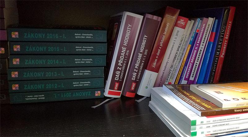 Knihy o účetnictví a daních